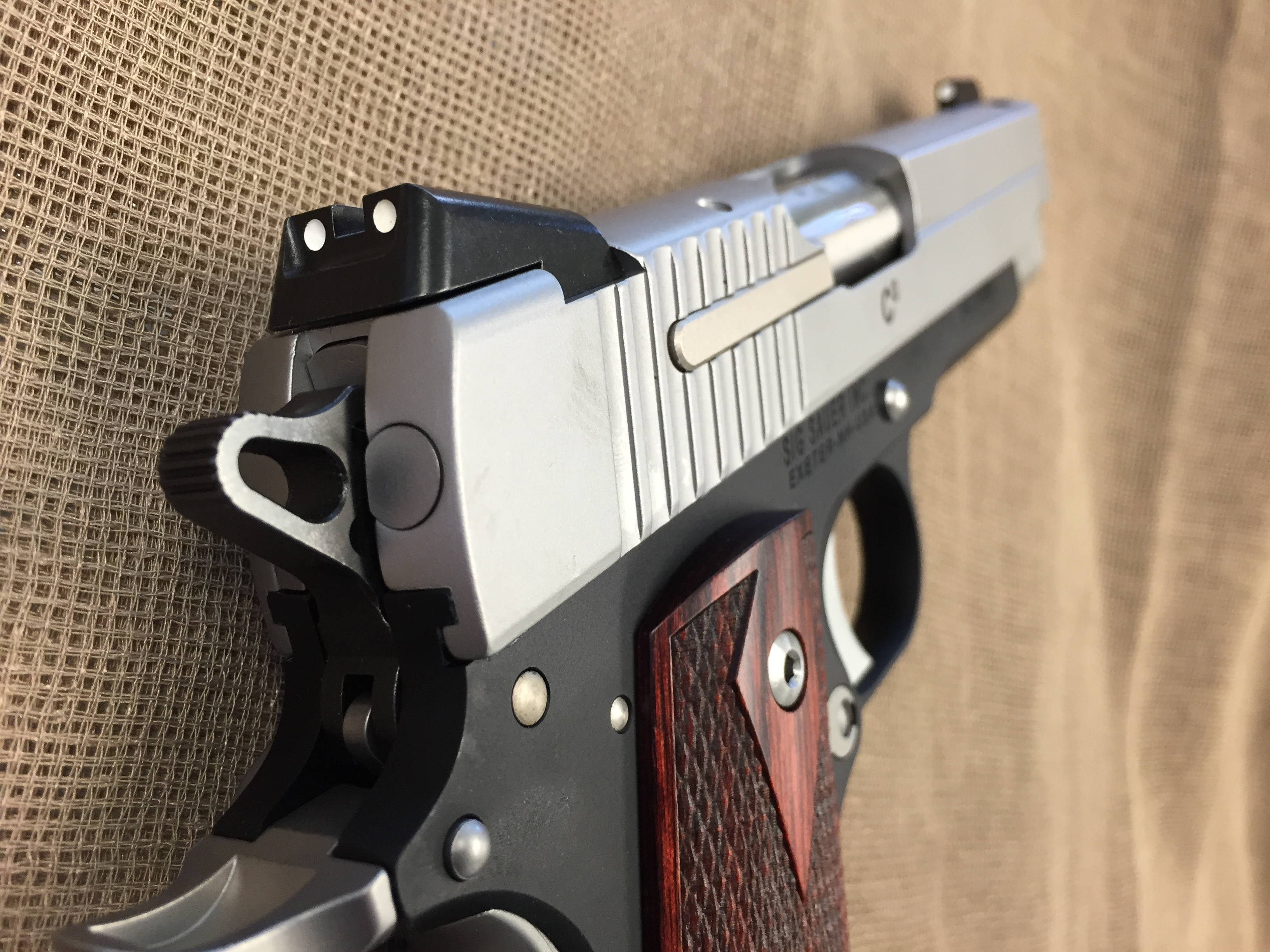 Sig Sauer 1911 C3 compact two tone  45 auto