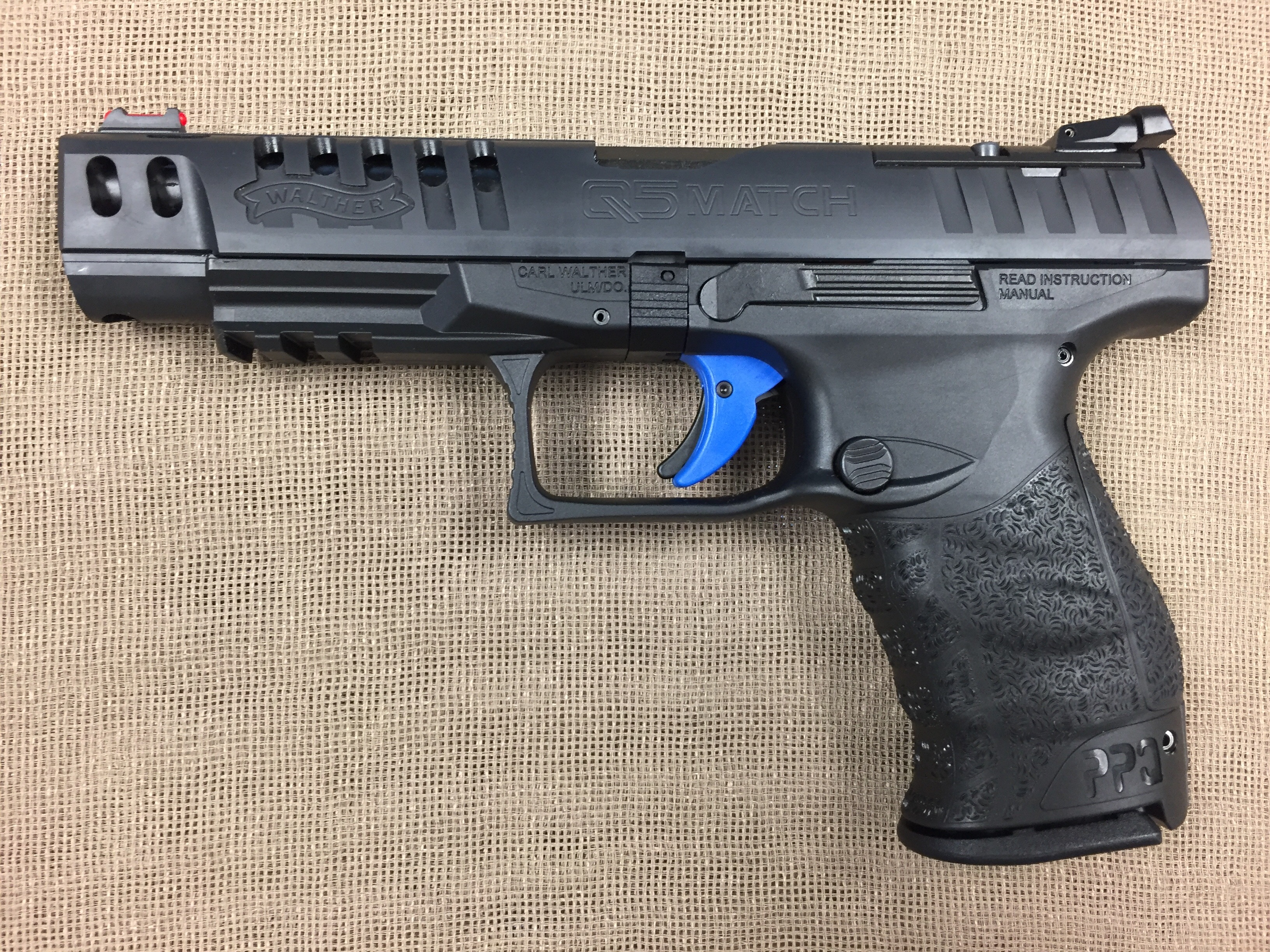 walther ppq q5 match 9mm auto 5 bbl saddle rock armory