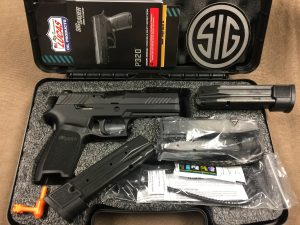 Sig Sauer Model P320 TacOps full size 9mm 21+1 capacity