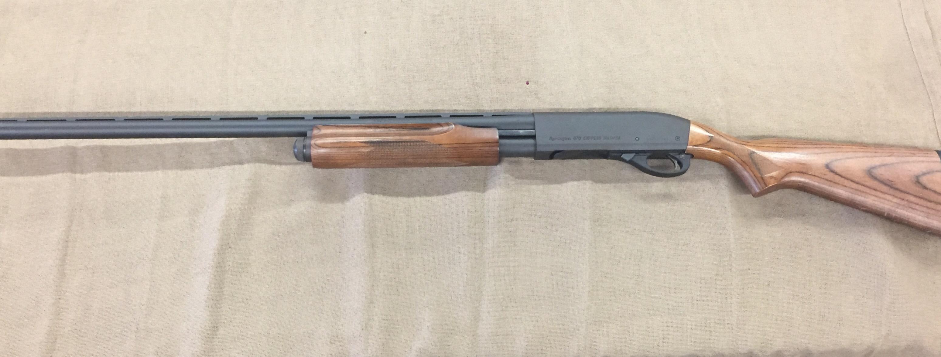 remington 870 express magnum 12ga 28 barrel laminated used