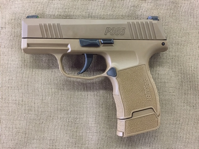 Sig Sauer Model P365 special edition 9mm compact Coyote Brown